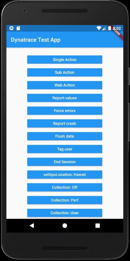 Dynatrace example Flutter app