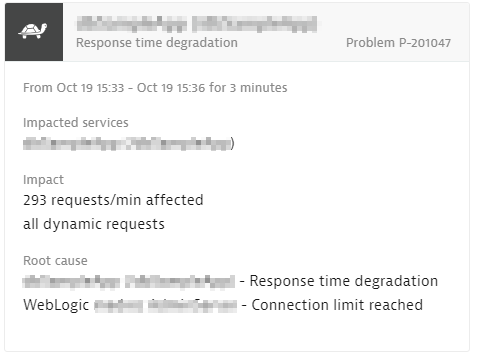 A problem featuring a connection pool limit being reached