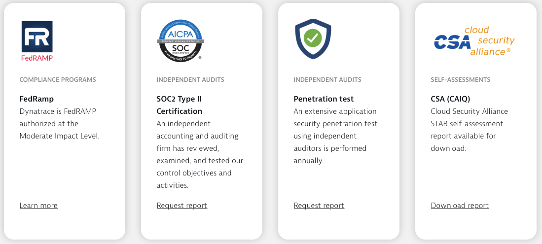 Dynatrace security audits