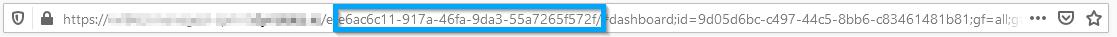 Screenshot Dynatrace environment's URL