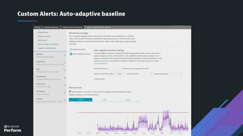 Auto-adaptive baseline