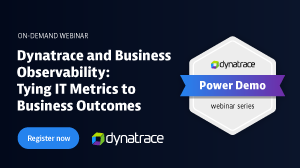 Power Demo Dynatrace and Business Observability