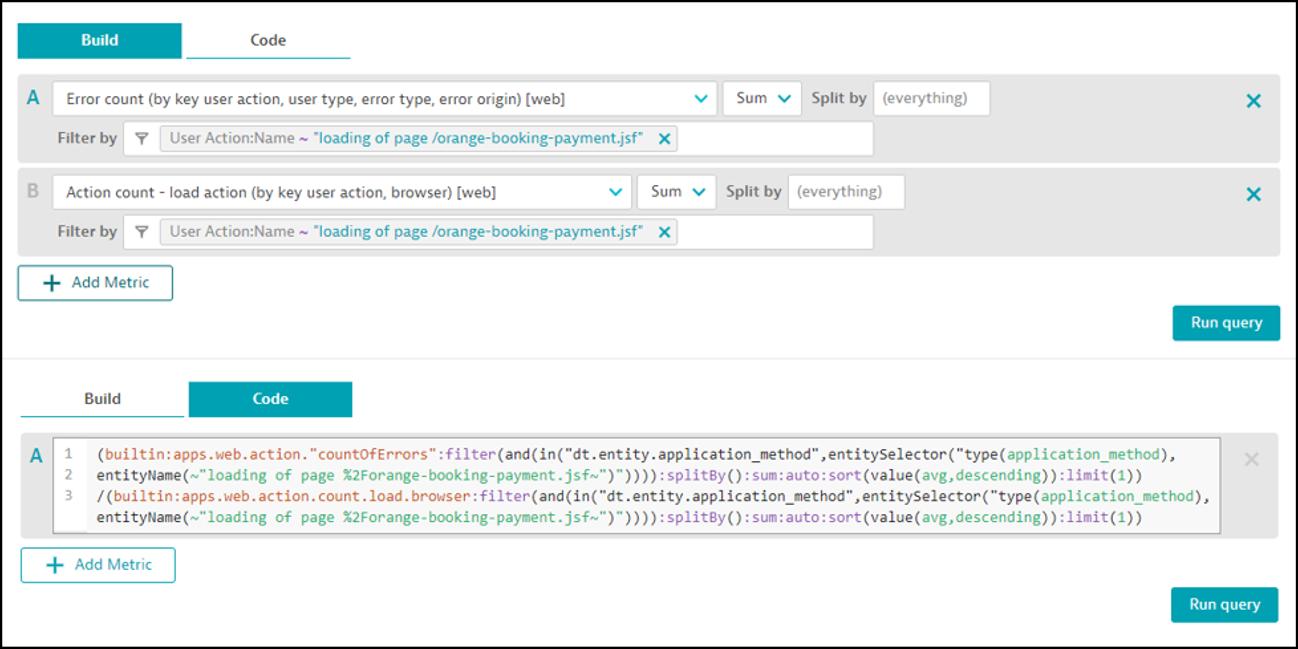 Dynatrace screenshot build code