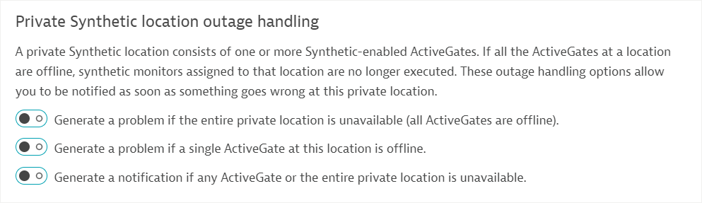 Location availability notifications