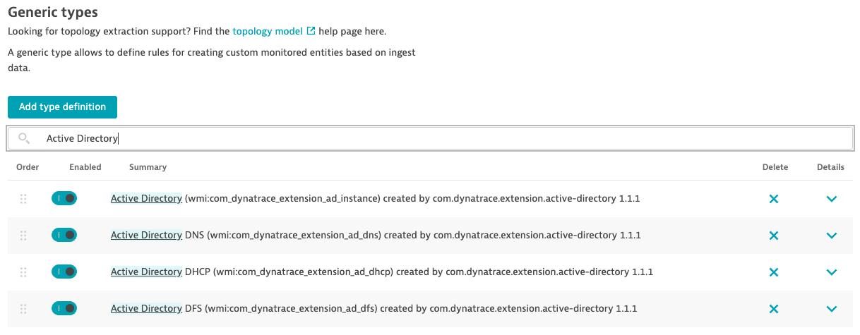 Entity type definition