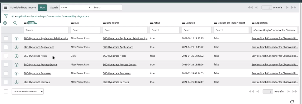 Screenshot of the guided setup process of connecting Dynatrace with ServiceNow