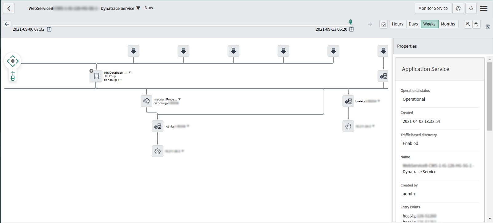 Screenshot improved service mapping