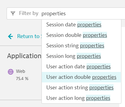 Session and action properties