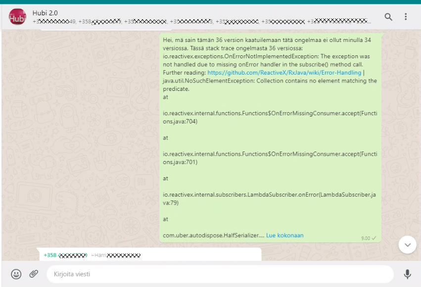 Sharing stack traces or even the link to the Dynatrace screens shortens troubleshooting with developers