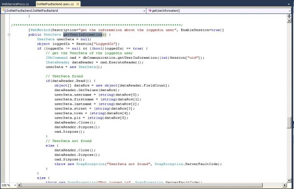 Problematic source code method in Visual Studio 2010 Editor