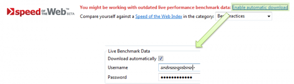 Enable Download of Live Performance Data
