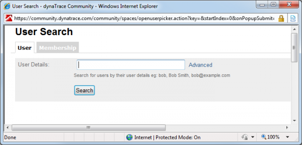 User Search Dialog takes several minutes to open on a system with 25k+ users