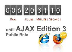 Follow the Dynatrace AJAX Edition 3.0 Public Beta Countdown Ticker