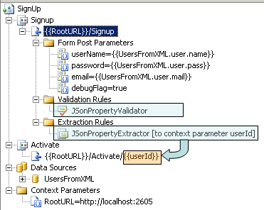 Using JSON Validator and Extractor in Web Test