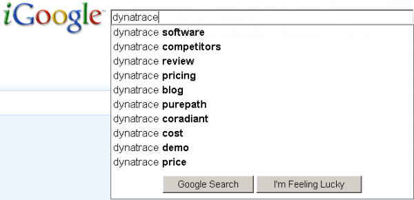 Search Box for Dynatrace