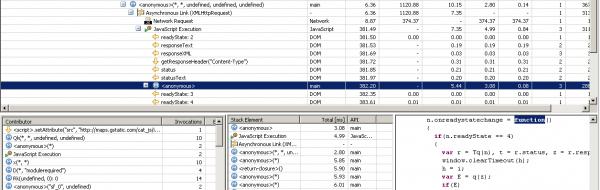 Analyze the JavaScript that handled the XHR Response